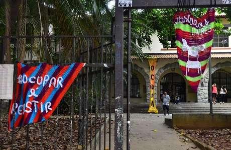 A Escola Estadual Fernão Dias Paes foi a primeira a ser ocupada pelos estudantes