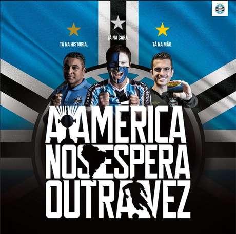 Grêmio lançou campanha publicitária para atrair mais sócios torcedores durante a Libertadores