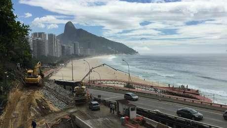 Em obras, segundo trecho deve ficar pronto até fim de junho e conectar São Conrado à Barra