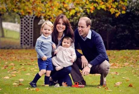Kate Middleton com a família