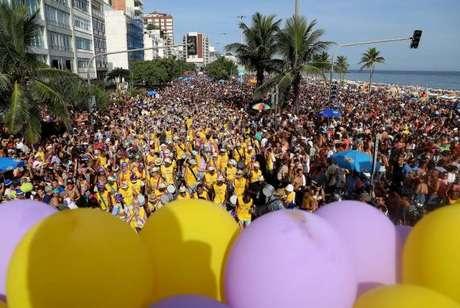 O Bloco Simpatia É Quase Amor teve a presença de um público de 100 mil pessoa,segundo a Riotur