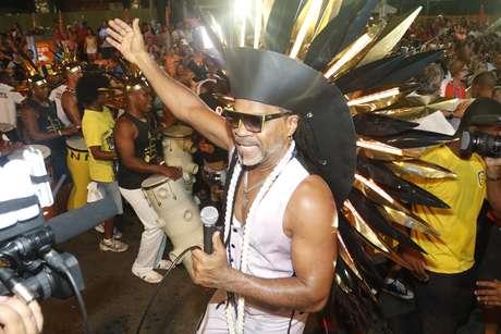 Carlinhos Brown no primeiro dia de Carnaval em Salvador