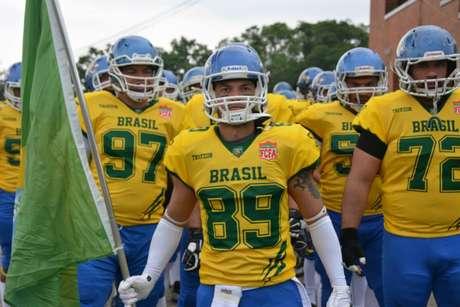 A Seleção Brasileira fez sua primeira participação na Copa do Mundo de Futebol Americano em 2015