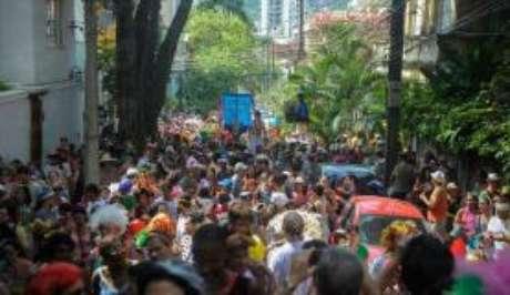 Bloco infantil Cordão Umbilical sai no Humaitá, zona sul da cidade.