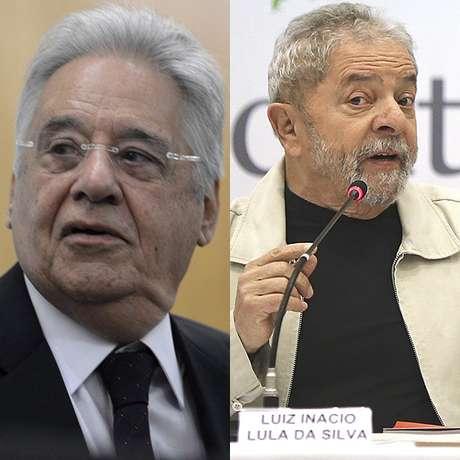 Ex-presidentes FHC e Lula