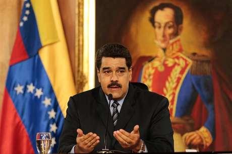 Presidente venezuelano Nicolás Maduro durante anúncio de pacote econômico