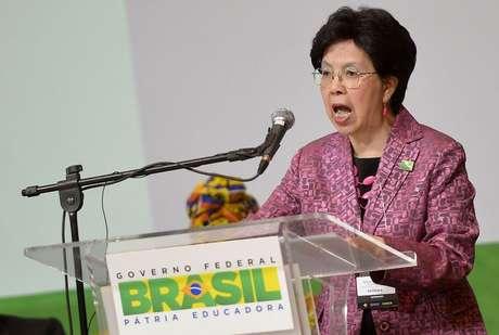 A diretora-geral da OMS, Margareth Chan, esteve no Brasil em novembro de 2015, para a 2ª Conferência Global de Alto Nível sobre Segurança no Trânsito