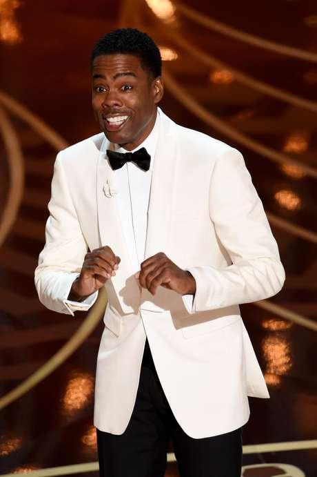 Apresentador da cerimônia, o comediante Chris Rock