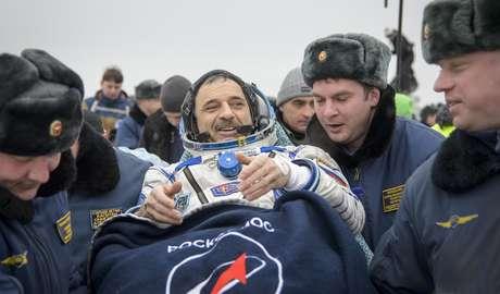 O cosmonauta russo Mikhail Kornienko