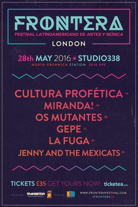 Frontera Festival en Londres será en mayo.