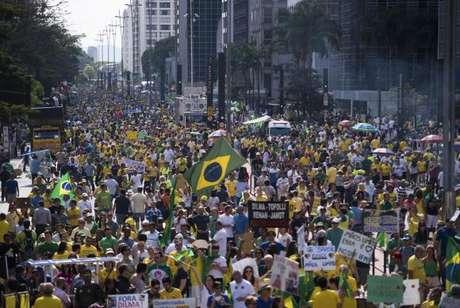 Manifestação contra o governo na Avenida Paulista