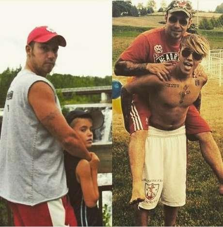 Cada vez mais próximo do pai, Jeremy Bieber, o cantor foi defendido por ele em uma de suas últimas polêmicas: quando fotos do astro nu vazaram e quase quebraram a internet