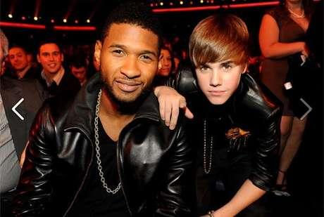 O astro mirim foi posto sob as asas de ninguém menos que o cantor de R&B Usher que o apadrinhou e o treinou. Foi ele quem convocou uma coletiva de imprensa em Los Angeles para anunciar o contrato de Justin com a Island Def Jam