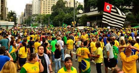 Protesto em Sâo Paulo