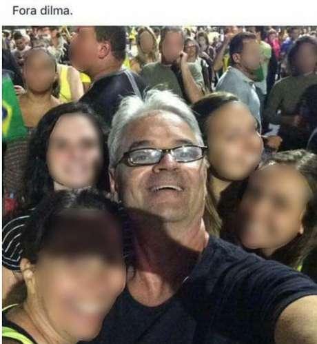 Na rede social, o juiz publica vários posts com participações em passeatas contra Dilma e em defesa do impeachment.