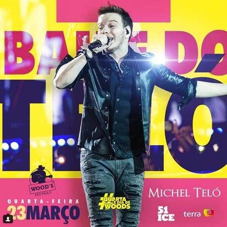 Nesta quarta-feira, 23, Michel Teló se apresenta na Wood's, na Vila Olímpia, em São Paulo, com músicas do novo CD