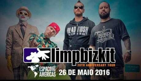 Em 26 de maio, o grupo americano Limp Biskit vem ao Brasil para uma apresentação única, no Espaço das Américas, com o intuito de celebrar os 20 anos de carreira da banda