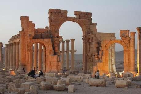 A antiga cidade de Palmira, no centro da Síria