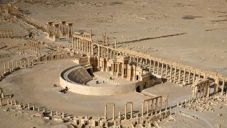 Imagem de 2009 mostra um dos tempos históricos de Palmira
