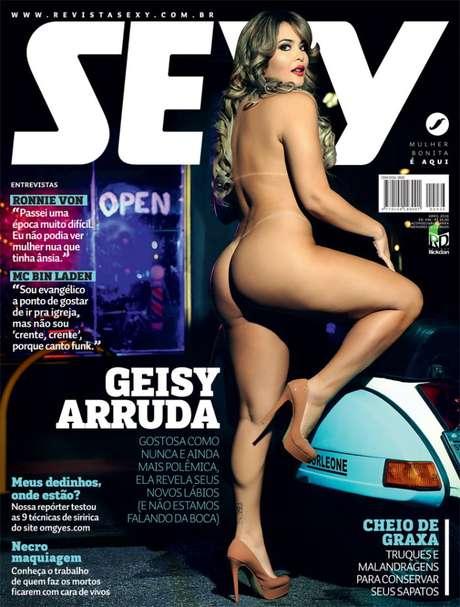 Cheia de sensualidade, Geisy Arruda é a próxima capa da revista 'Sexy' de abril