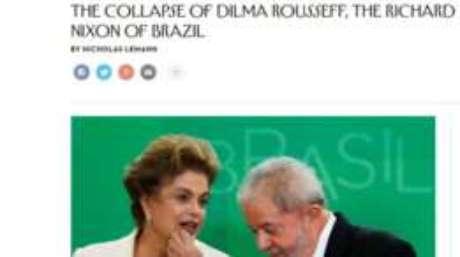 Revista americana compara Dilma Rousseff a Richard Nixon