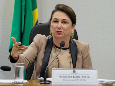 Kátia Abreu afirmou nas mensagens que a decisão foi tomada ontem à noite na casa de Renan Calheiros