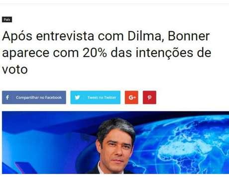 """Manchete """"lançando"""" candidatura de apresentador alavancou popularidade do site"""