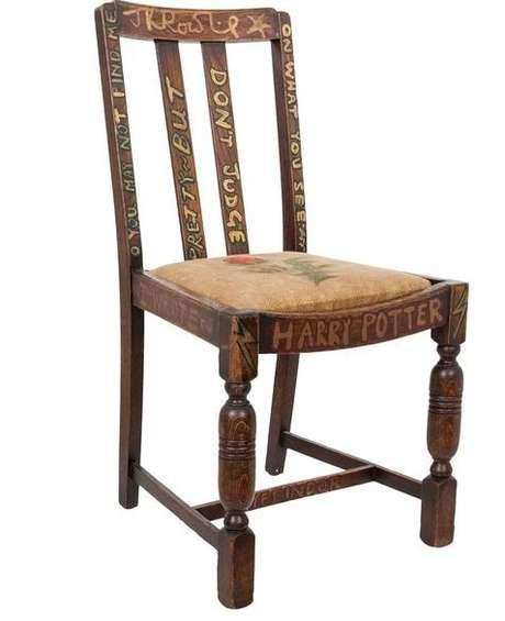 Cadeira de J.K. Rowling foi leiloada por mais de R$ 1,4 milhão