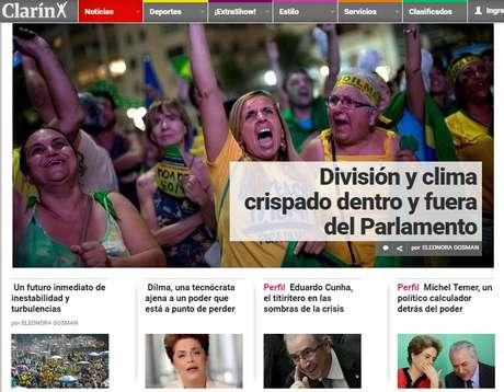 O Clarín, da Argentina, classifica a votação de expressiva