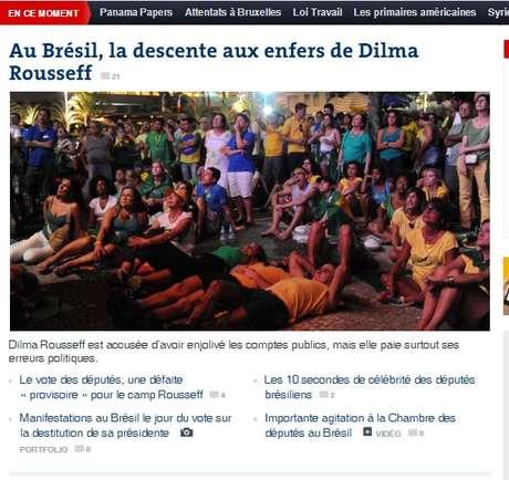 O francês Le Monde trata da ligação entre Dilma e o ex-presidente Lula