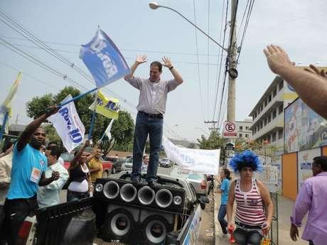 Prefeito Ruy Muniz, de Montes Claros (MG), durante campanha eleitoral em setembro de 2012