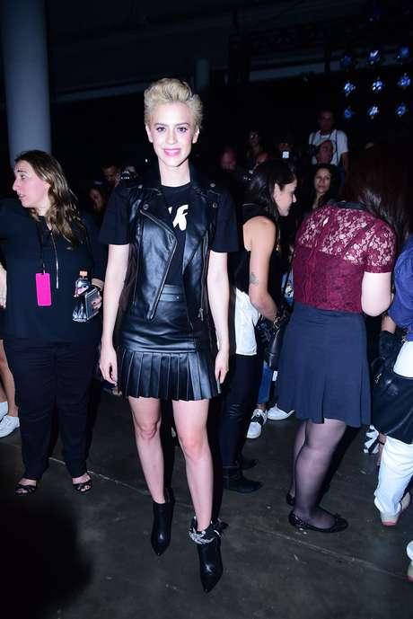 Sophia Abrahão acompanhou o desfile da Riachuelo no 2º dia de São Paulo Fashion Week