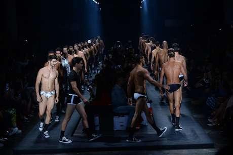 Na linha masculina, Amir Slama trouxe modelos sarados