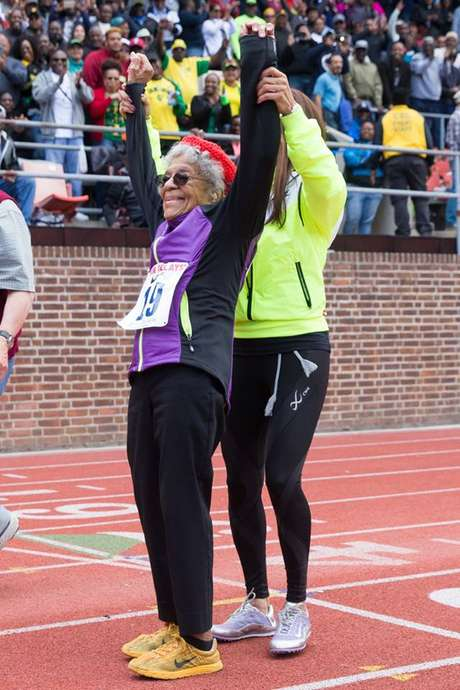 Ida Keeling, recordista dos 100m rasos, no auge dos seus 100 anos