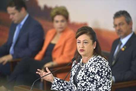 Kátia Abreu disse confiar na honestidade e espírito público da presidente Dilma Rousseff