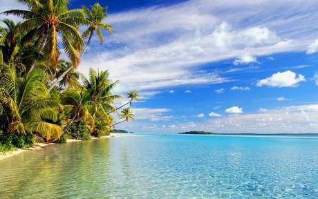 A maravilhosa transparência das águas nas ilhas Cook