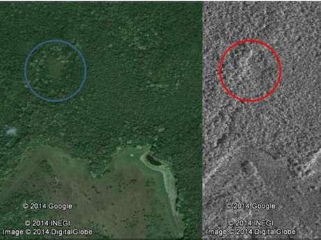 Imagens de satélite mostram estruturas potencialmente feitas pelo homem no meio da selva