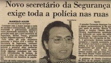 """Temer diria depois que """"não conhecia nada"""" ao assumir comando da segurança paulista"""