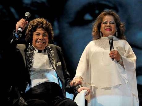 Cauby Peixoto e Ângela Maria durante emocionante show no Theatro Municipal de São Paulo em 2012