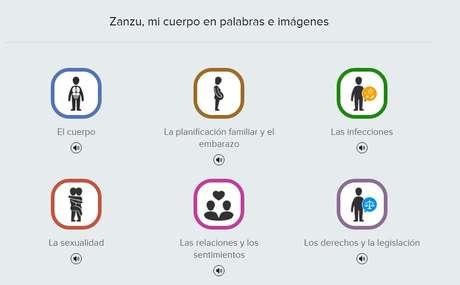 Portal tem 12 opções de idiomas e apresenta seções sobre saúde sexual, planejamento familiar e relacionamentos e emoções