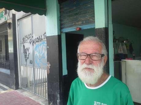 Valdinir Torres, 80 anos, é dono de um bar vizinho ao Engenhão e diz ter medo por causa da ação frequente de criminosos na localidade