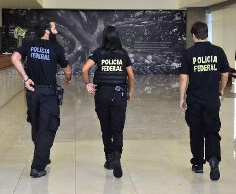 Polícia Federal durante operação