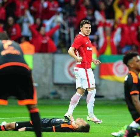 Andrigo foi o autor do gol da vitória do Inter sobre o Sport, em Porto Alegre (RS)