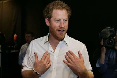 Príncipe Harry durante evento de boxe em Londres