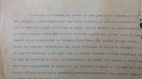 Trecho da primeira página de livro inacabado do escritor baiano