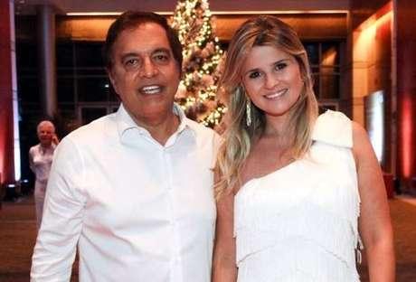 O novo empresário de Justus, Claudio Pessutti, com sua mulher, Helena Caio (Foto: AgNews)