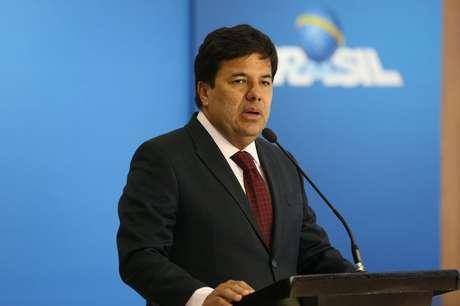 O ministro da Educação, Mendonça Filho, em discurso na solenidade de assinatura do edital de expansão do Fies