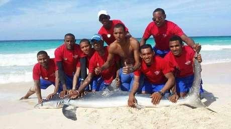 """Tiburón muere luego de ser sacado del agua para una foto"""""""