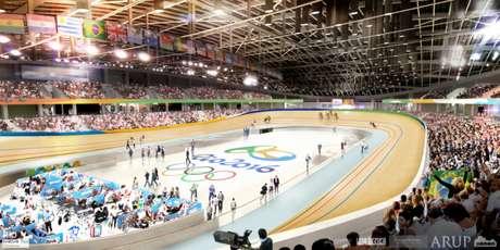 Velódromo do Rio de Janeiro será entregue amanhã. Na imagem, uma previsão do local (Foto: Divulgação)