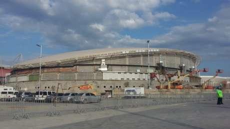 Velódromo do Parque Olímpico é a arena mais atrasada dos Jogos Olímpicos (Foto: Jonas Moura)